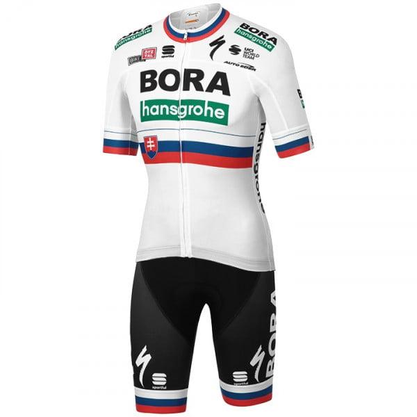 2019 Bora Hansgrohe Cycling Kit Short Sleeve Jersey Bib Shorts Set Peter Sagan